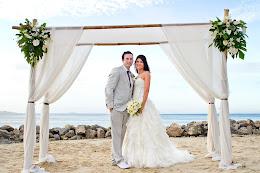 Couple married at Castaway Island Resort, Fiji