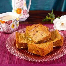 Pistachio Rose Blondies with White Chocolate