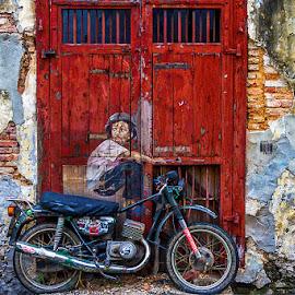 by Adeline Tan - City,  Street & Park  Street Scenes ( georgetown, street art, penang, malaysia, unesco,  )