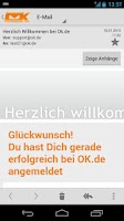 Screenshot of OK.de Mail