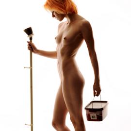 I am a Painter by Vineet Johri - Nudes & Boudoir Artistic Nude ( art nude, nude, pait, vkumar photography, kittie, lady painter )