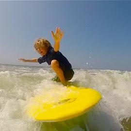 Surfing by Tyrell Heaton - Instagram & Mobile Other ( surfing, children )