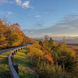 Blue Ridge Parkway by Chuck Vickers - Landscapes Mountains & Hills ( blue ridge parkway )