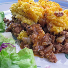 Pastel De Choclo (Beef Casserole With Corn Batter Topping)