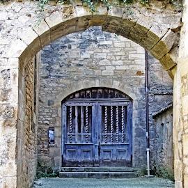 Blue doorway by Michael Moore - Buildings & Architecture Other Exteriors ( doorway, door, architecture )