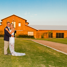 Wedding a the Old Barn by Matthew Chambers - Wedding Bride & Groom ( wedding, bride and groom,  )