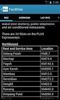 Screenshot of PLUS Toll Rate