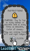 Screenshot of Tap Sheep Christmas Edition