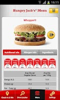 Screenshot of Hungry Jack's® Shake & Win App