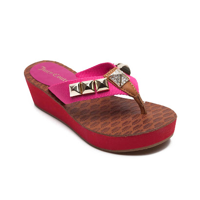 Juicy Couture Embellished Wedge Sandal SHOE