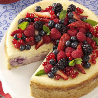 Red, White and Blue Cheesecake