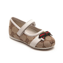 Gucci Velcro Branded Bar Shoe TODDLER GIRL