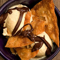 Caramel Sundae with Cinnamon-Sugar Chips Recipe