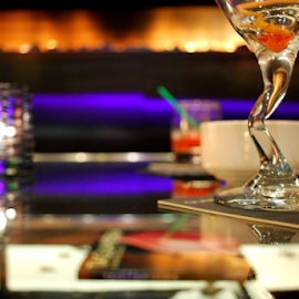 Martini Bar by Henk Holveck - Food & Drink Alcohol & Drinks ( bright, colorful, coaster, martini, candles, beautiful, club, depth of field, trendy, bar )
