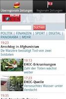 Screenshot of Zeitungen DE PRO (Deutsch)