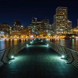 San Francisco City - Night Lights by Praveen Parvataneni - City,  Street & Park  Night