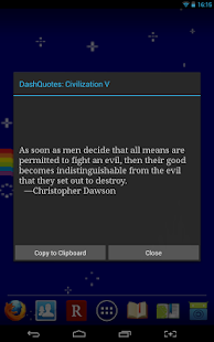 DashQuotes: Civilization V - screenshot