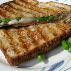 Lighter Grilled Swiss, Ham and Asparagus Sannie