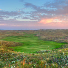 Sunrise at Ballyneal's Par 5-8th Hole by Robert Castellino - Sports & Fitness Golf ( golf colorado, holyoke, golf course, top 100 golf courses, golf course photography, colorado, golf, ballyneal )