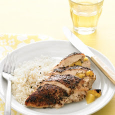 Pineapple-Stuffed Jerk Chicken