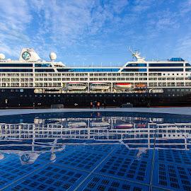 Mirror image by Vesna Holjevac - Transportation Boats ( cruiser, ship, harbour, sea, boat )