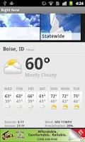 Screenshot of Idaho Weather from KTVB