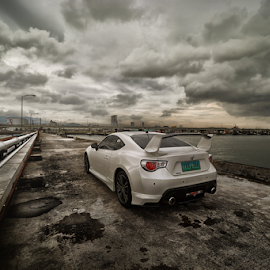 Taking Off....86 by Ferdinand Ludo - Transportation Automobiles ( toyota 86, nice sky, clouudy day,  )