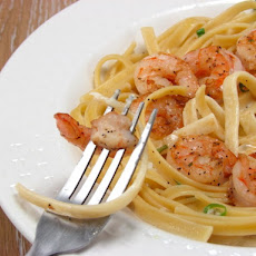 Shrimp & Fettucine in Creamy Coconut Sauce