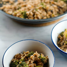 Recipe: Farro with Broccoli and Shiitakes