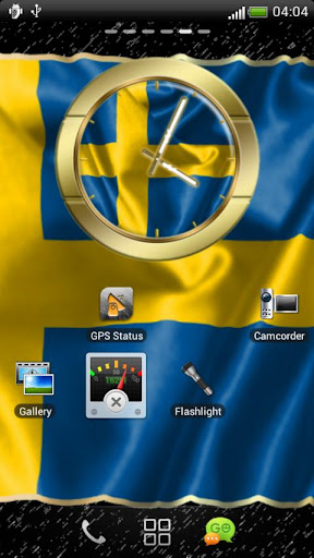 Sweden flag clocks