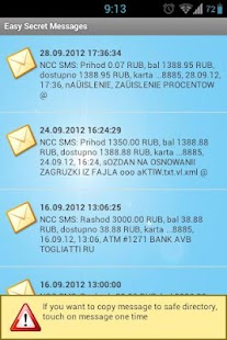 Easy secret sms - screenshot