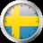 Swedish Flag Clock Widget