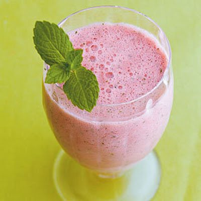 Watermelon Smoothie with a Hint of Mint