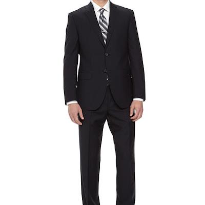 Neiman Marcus Two-Piece Italian Wool Suit, Navy - (42R)