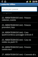 Screenshot of Lombardia Offline