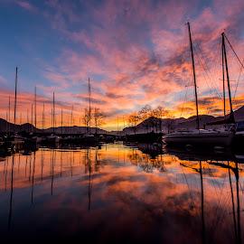 RedSky3 by Kwa Klok - Landscapes Sunsets & Sunrises