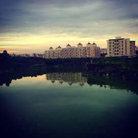 Sunset by Sohail Sheikh - Buildings & Architecture Other Exteriors ( lake, perfectclick )