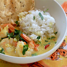 Fiery Indian Shrimp Curry