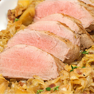Beer-Braised Pork Tenderloin with Cabbage and Apples