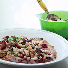 Grilled Chicken with Cherry, Basil and Jicama Salsa (Low Carb and Gluten Free)