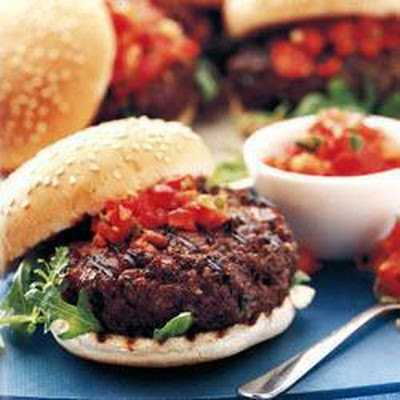 Mediterranean Beefburgers With Red-hot Tomato Salsa