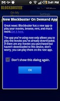 Screenshot of Blockbuster for HTC