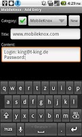 Screenshot of MobileKnox