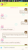 Screenshot of Happy Apple go sms theme