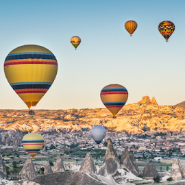 cappadocia by Krissanapong Wongsawarng - Landscapes Travel ( rock, travel, turkey, balloon, nikon, landscape, cappadocia )