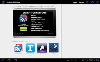 Screenshot of Android Tablet Apps