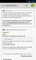 Screenshot of Missat samtal