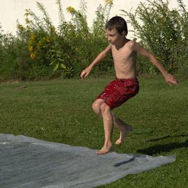 Slip and Slide by Janet Lyle - Babies & Children Children Candids ( play, children )