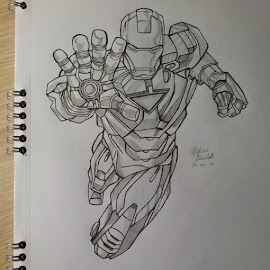Iron Man [drawing] by Federica Mandato - Drawing All Drawing ( pencil, marvel, iron man, stark, drawing, man, iron )