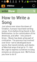 Screenshot of HOW TO WRITE A SONG